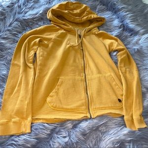 Roxy Mustard Yellow Howling Wolf Zip-up Hoodie